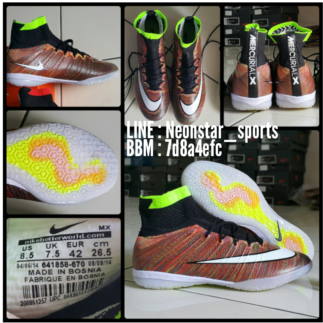Sepatu Futsal Nike Replika Import Neon Star Sports Mercurial Superfly X Coklat Impor