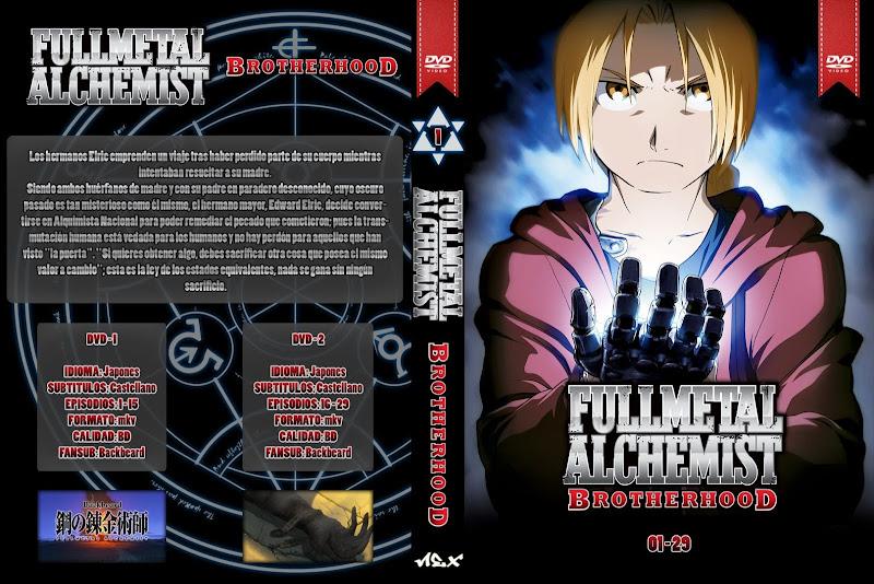 Capa DVD Fullmetal Alchemist Brotherhood