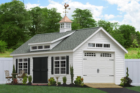 Prefab garage packages from sheds unlimited in lancaster pa for Prefab one car garage
