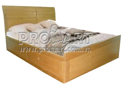 Giường đôi gỗ sồi 2 ngăn kéo DB08-C