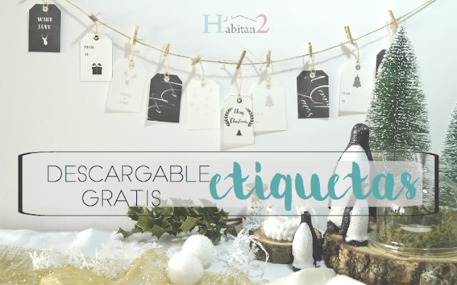 Descargable etiquetas navideñas /Freebies by Habitan2