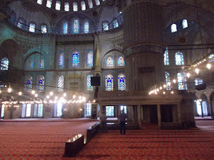 """Inside """"Sultan Ahmed Mosque(Blue Mosque)"""""""