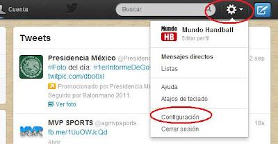 Crear una web | Añadir widget de Twitter | Un servicio de MundoHandball.com