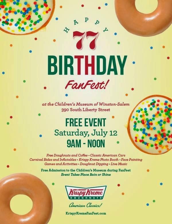 Free Birthday Krispy Kreme ~ Barbara s beat happy birthday krispykreme get cent doughnuts and attend fanfest for free