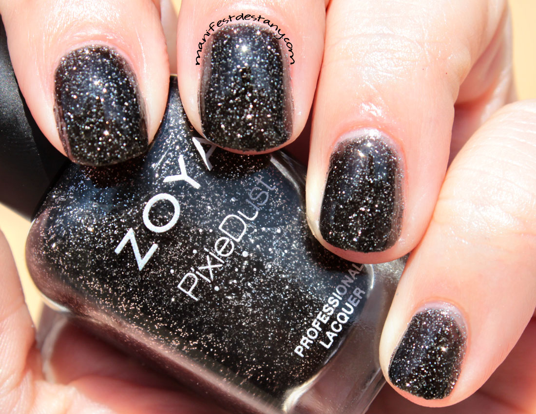 zoya pixiedust in dahlia swatchesreview confessions of
