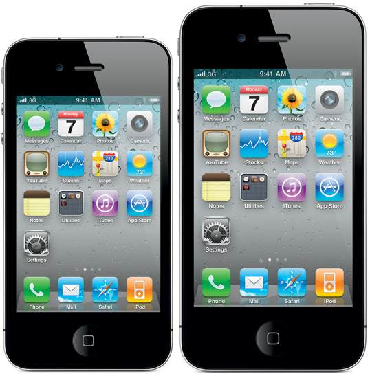 be 4-inch, the existing iPhone 4 has a 3.5-inch, Apple will make this