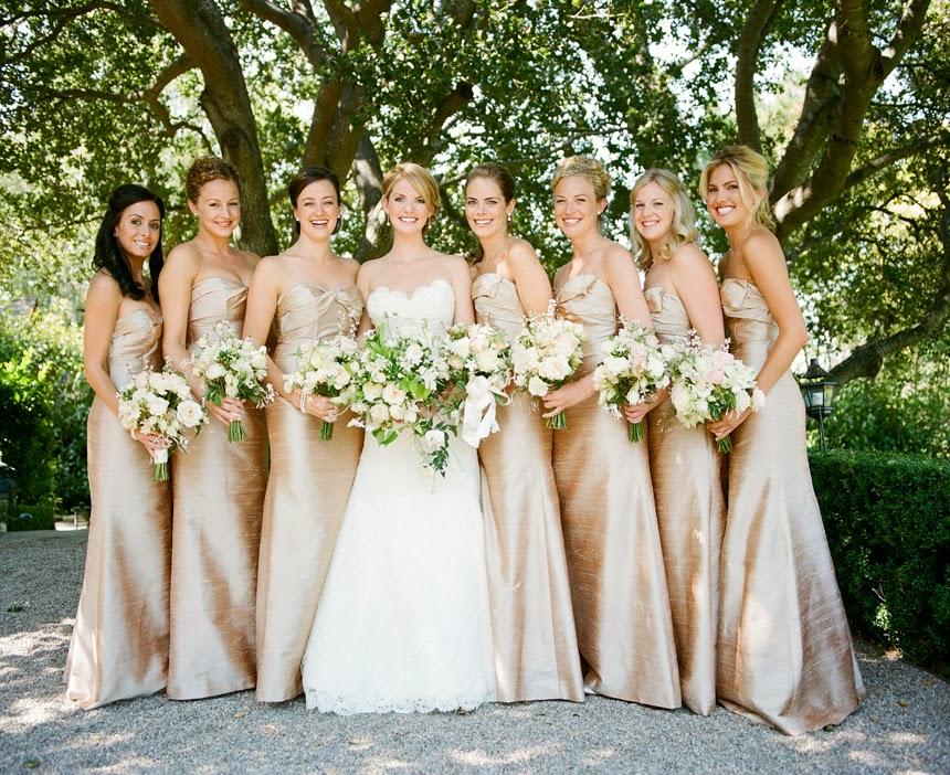Vestidos de damas para boda de noche