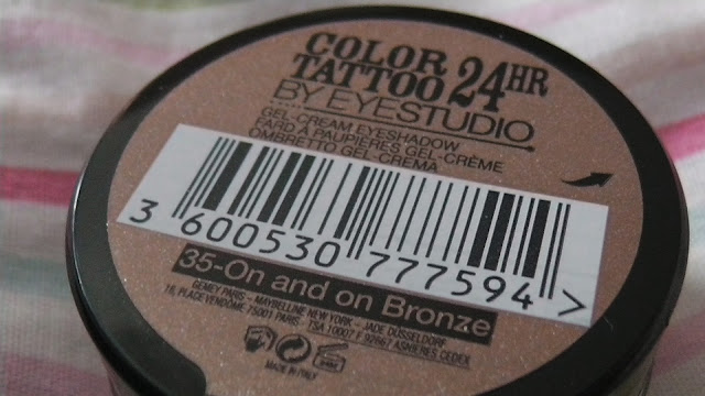 Maybelline Color Tattoo Eyeshadow in On and On Bronze