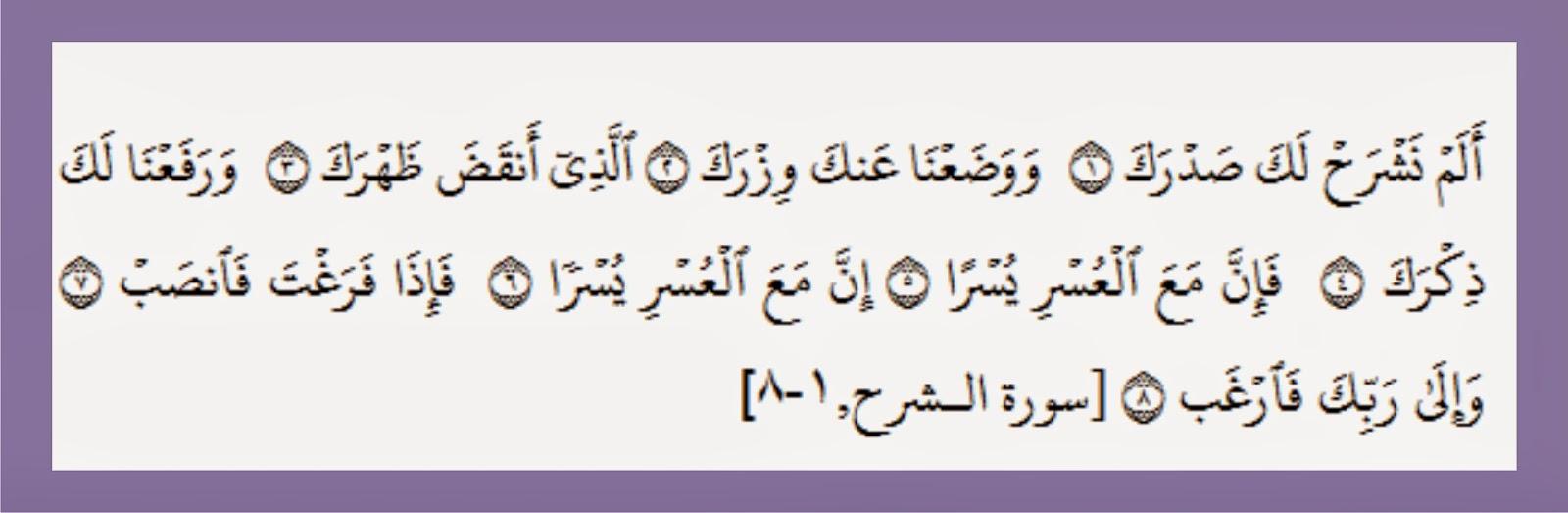 Bacaan Surah Ash Sharh dan Artinya