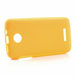 Skidproof TPU Jelly Case for Lenovo A390 - Yellow