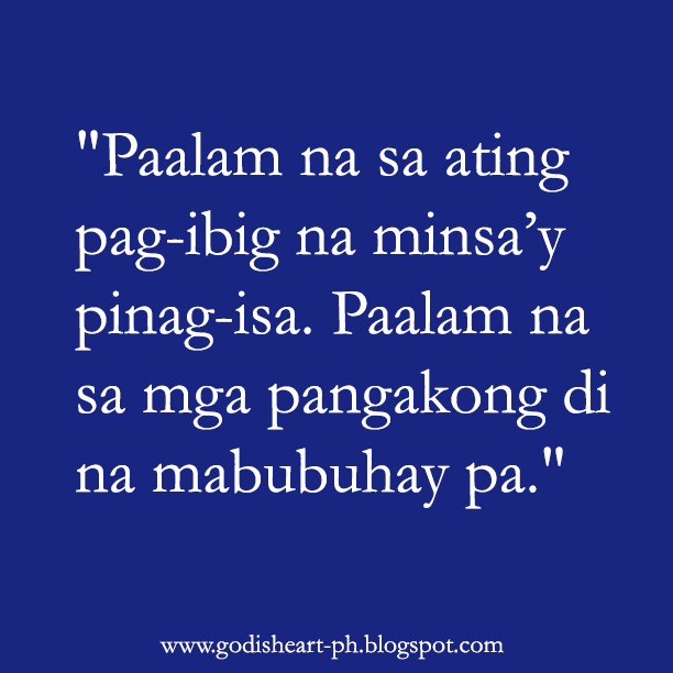 Inspirational Quotes Love Tagalog