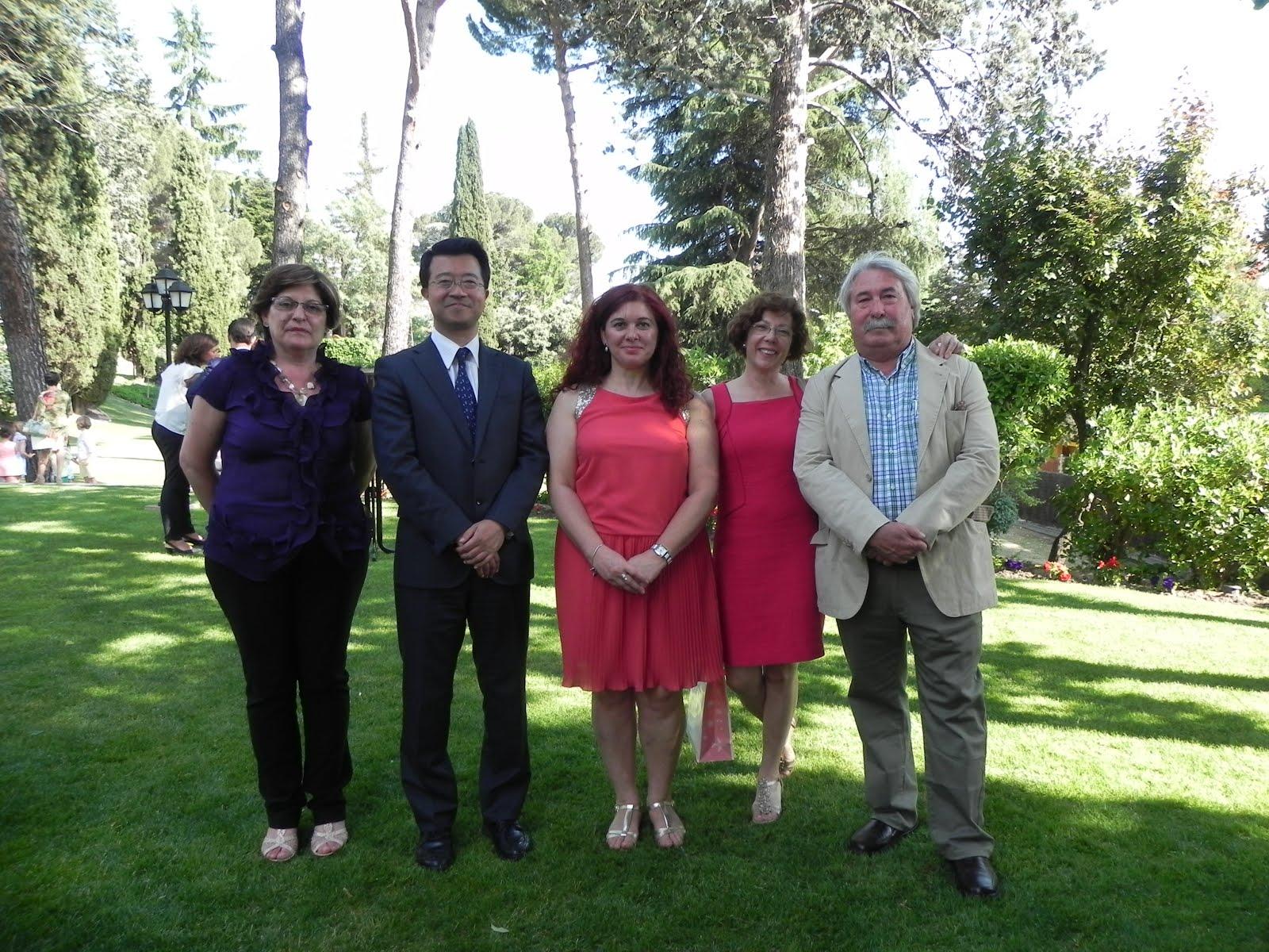 Gente de AGHA en la Embajada de Japón en Madrid 2015