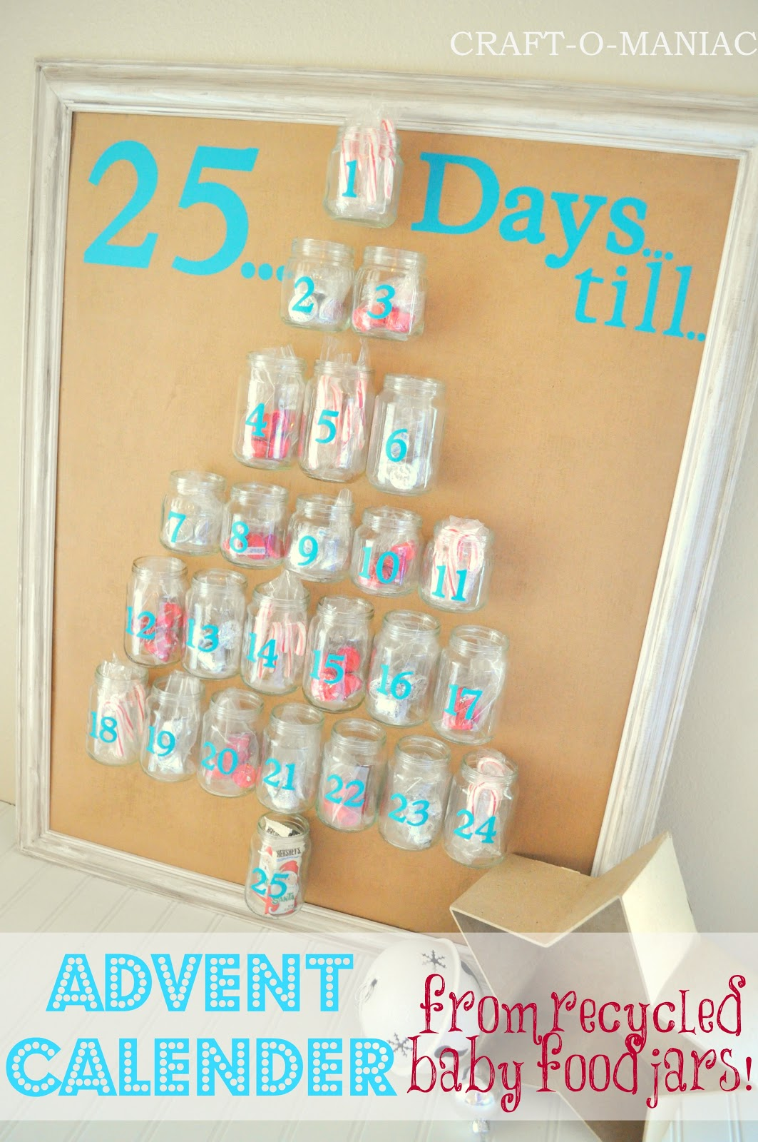 Diy Recycle Calendar : Advent calender from recycled baby food jars craft o maniac