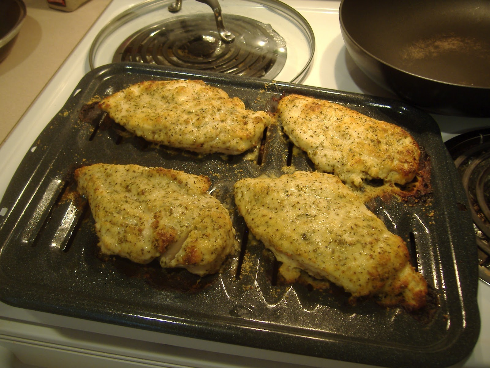 Low Carb Eating: Low Carb Oven Baked Chicken Parmesan
