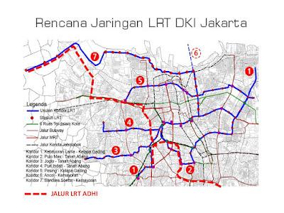 Rencana Jaringan LRT Jakarta