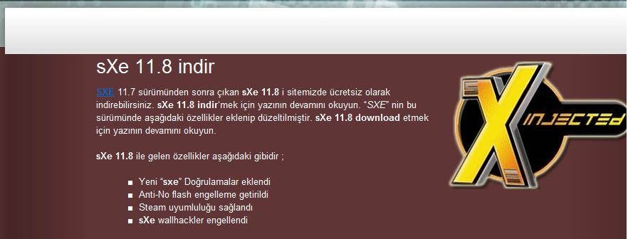 sXe 11.8 Download – indir – sxe 11.8 wallhack Hilesi indir