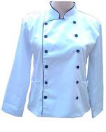 Baju chef atau koki dewasa putih tangan panjang + topi