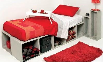 cama em alvenaria