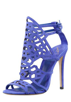 Stunning Blue Suede Sandals