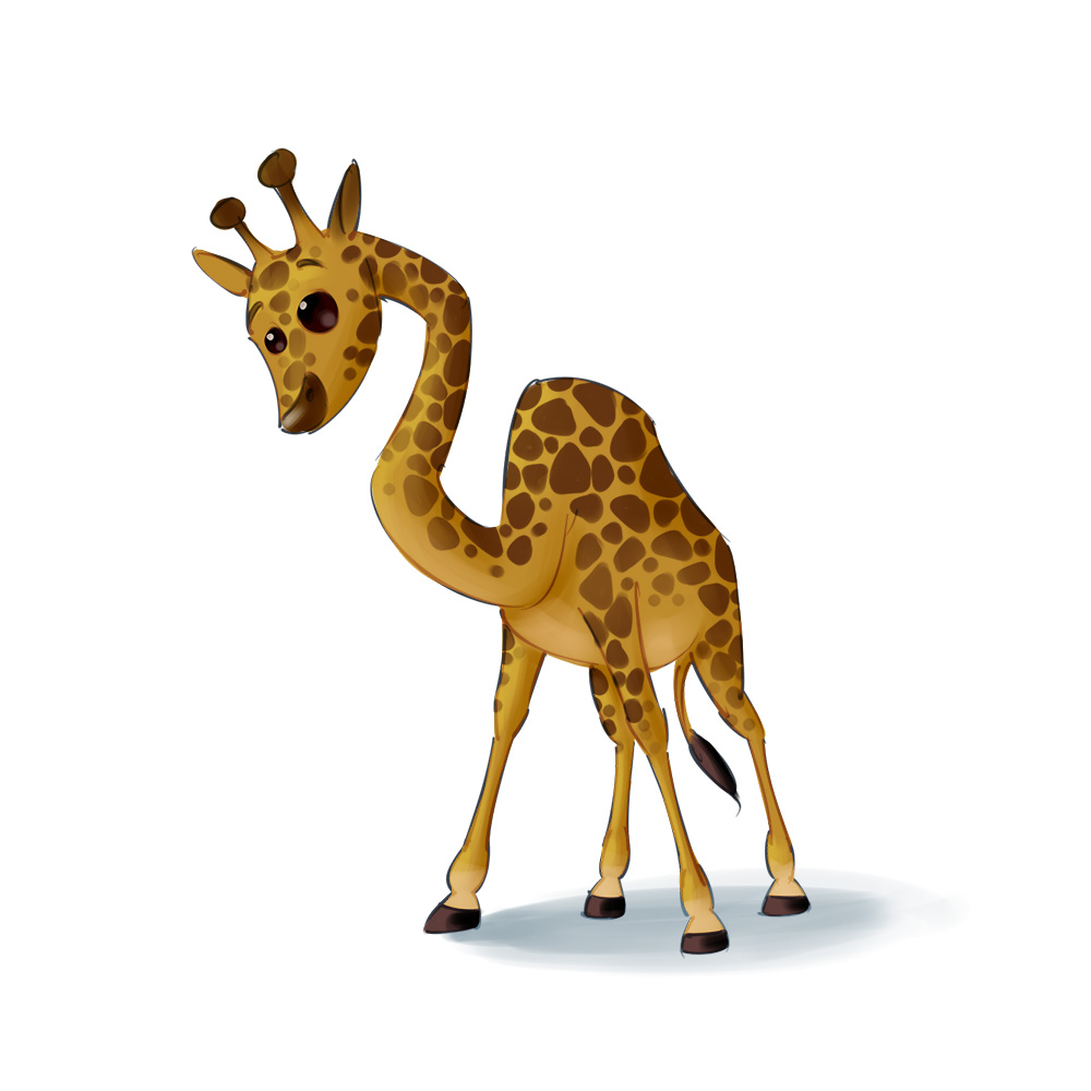 giraffe mascot design
