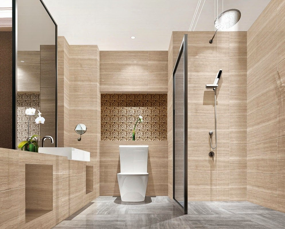 Decor your bathroom with modern and luxury bathroom ideas for Small bathroom design contemporary
