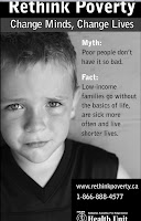 image Retink Poverty Poster  Low income Families Do Without Basics