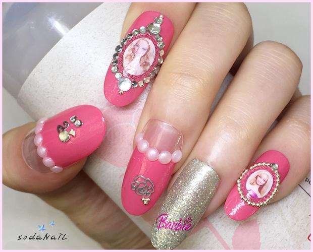 sodanail barbie nail art
