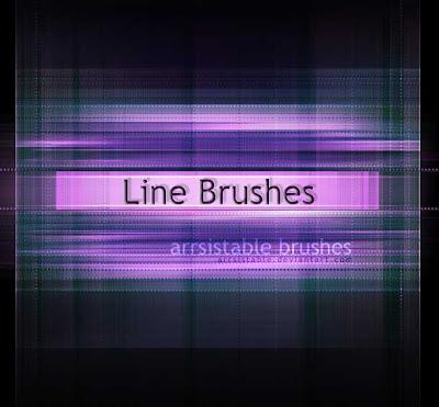 brushes de lineas photoshop