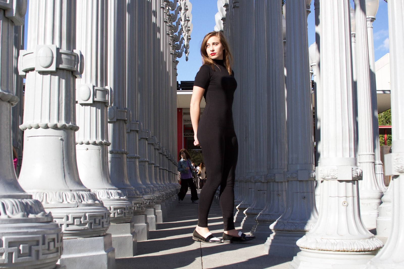 ASOS, unitard, boohoo shoes, black and white loafers, taylor swift style, classic style, surrey hepburn style, lama, los angeles vacation, vintage style, retro style, screenwriting, style blogger, film blogger, movie inspired looks,