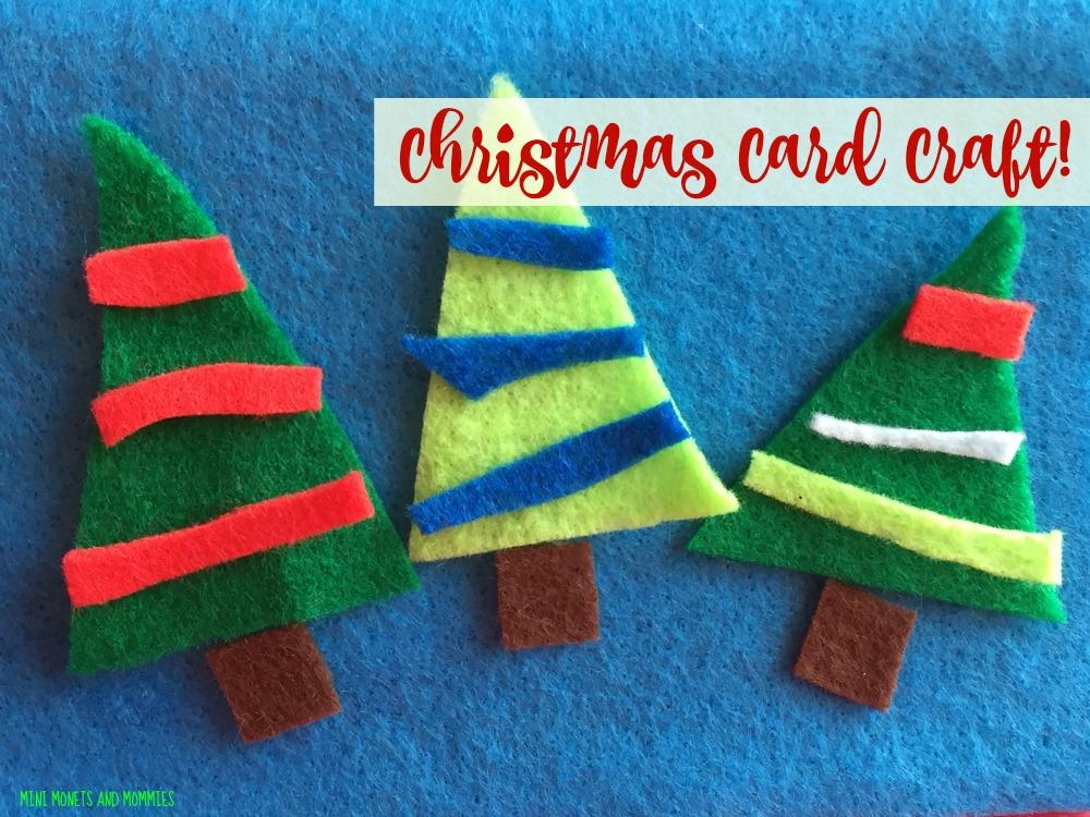 Mini Monets and Mommies: Craft Felt Christmas Card Art Activity