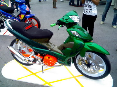 modifikasi motor suzuki shogun