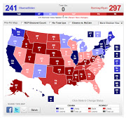 Hypothetically, in a very extreme example, let's say Romney were to win most .