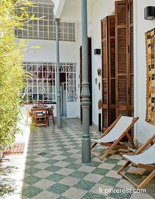 Arquitectura de casas casa chorizo art dec en buenos aires for Patios antiguos decoracion