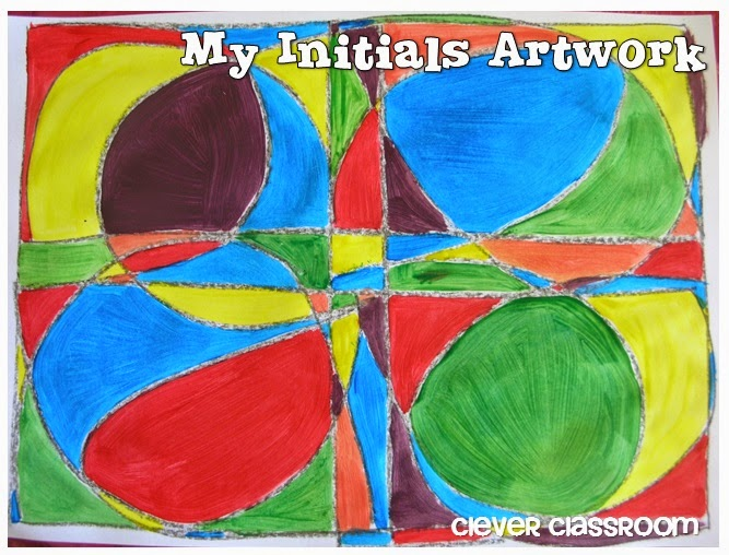 Initials Artwork: Clever Classroom blog