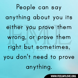 People can say anything about you