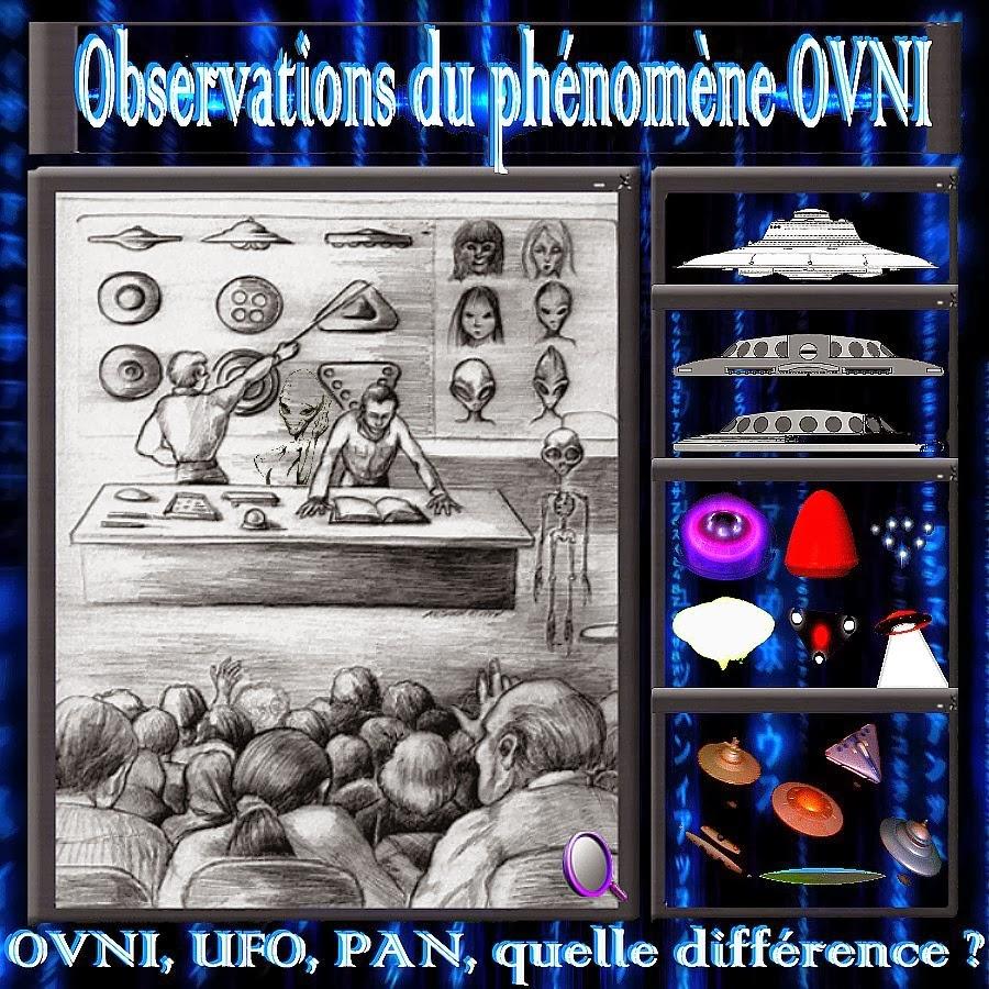 Observations du phénomène OVNI.