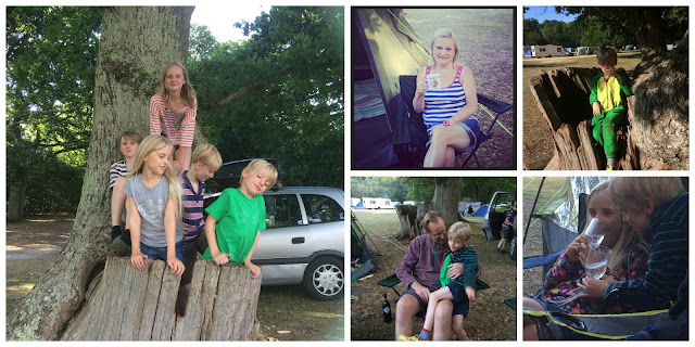 camping at Ashurst in New Forest
