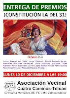 """Entrega de los premios republicanos """"Constitución la del 31"""""""