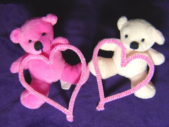 Beautiful Pink Teddy Bear White Teddy Bear With Pink Hearts