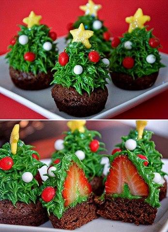 cupcake, chantily, cupcake de natal, cupcake enfeitados, Chocolate Rápido,
