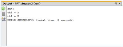 Contoh Tipe Data Karakter (Java)