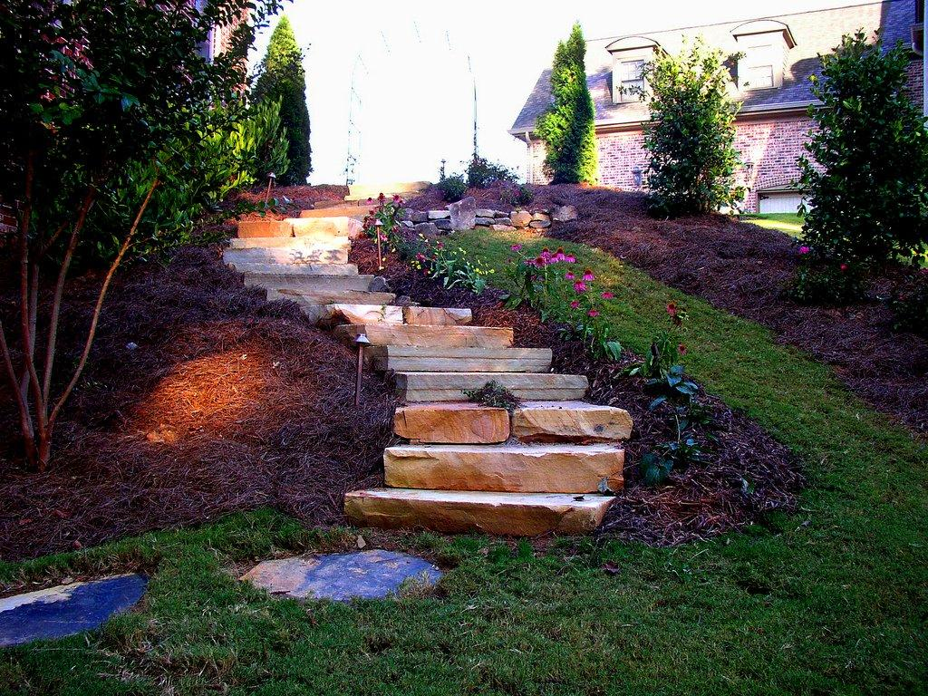Outdoor stairs design for your backyard backyard and patios for Backyard design ideas