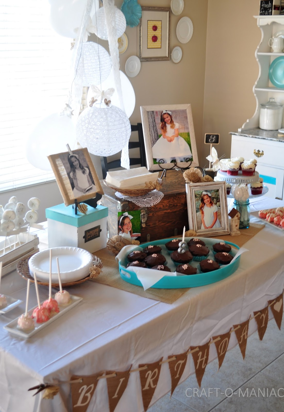 Rustic White Birthday Baptism Party CraftOManiac