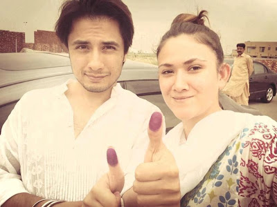 Mr And Mrs Ali Zafar - Pakistan Celebrities voted for Pakistan