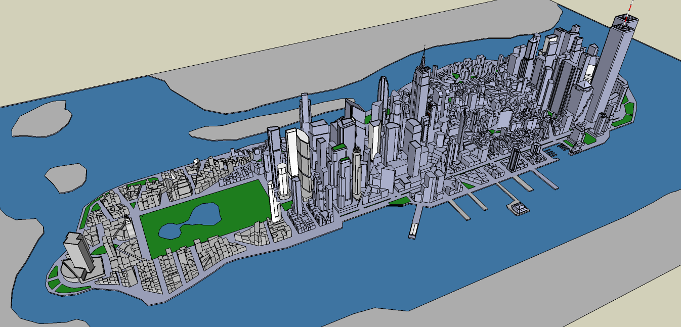 Stuff Aboutcode  Minecraft Pi Edition Manhattan Island - Nyc map minecraft