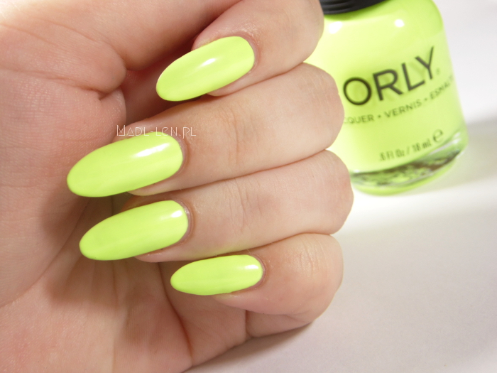 Orly, Key Lime Twist, Sugar High, swatch, neon nails
