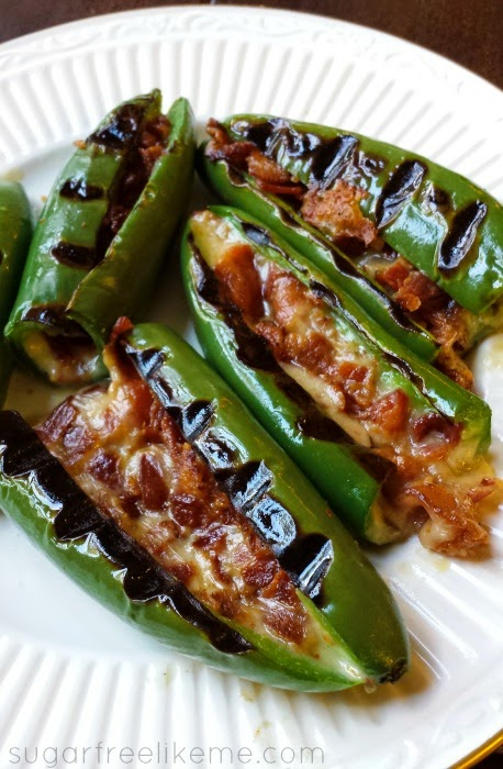 Bacon and Cheese Stuffed Pablano Peppers