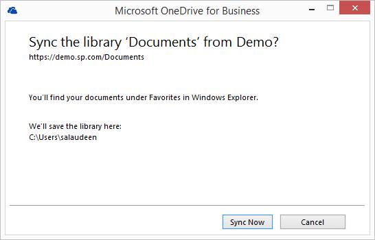 sharepoint 2013 desktop sync