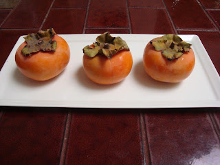 Recipe: Persimmon, pomegrante, and pistachio salad (three p's salad)