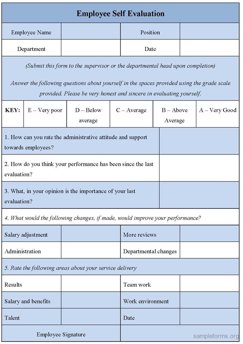 Free printable employee evaluation form for Evaluation templates for employees